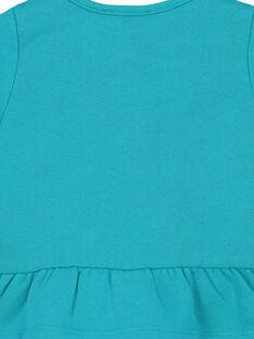 Cardigan in cotone con ricami neonata FITUCAR2 / 19SG09F2CAR202
