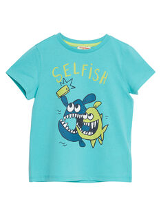 T-shirt bambino maniche corte turchese selfie pesci JOJOTI7 / 20S902T2D31204