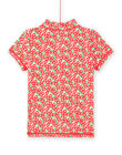 T-shirt anti-UV rosa bambina LYAMERLUVEX / 21SI01D2TUV309