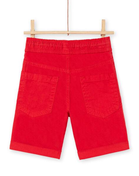 Bermuda rosso bambino LOJOBERMU3 / 21S902F3BER050
