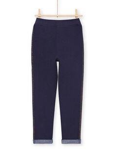 Pantaloni sportivi navy bambina MAJOBAJOG3EX / 21W90114JGBC205