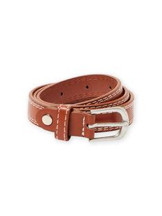 Cintura caramello con cuciture in vista bambino MYOESBELT2 / 21WI02E1CEI420