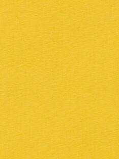 T-shirt gialla in cotone bambino LOJOTEE2 / 21S90234TML102