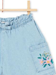 Shorts in jeans azzurri bambina LAVERSHORT1 / 21S901Q1SHOP272