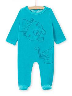 Tutina blu in velluto neonato LEGAGRECAL / 21SH1456GREC240