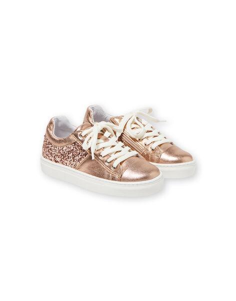 Sneakers dorato rosa bambina LFBASGOLD / 21KK3533D3FK009