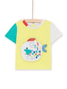 T-shirt gialla neonato LUVITI3 / 21SG10U1TMCB115