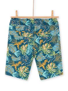 Bermuda blu e verdi stampa foglie bambino LOVERBER1 / 21S902Q4BER622