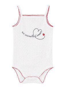 Body neonata con spalline bianco JEFIBODCOC / 20SH13V3BDL000