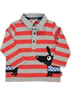Baby boys' striped polo shirt DUROUPOL / 18WG1021POLJ908
