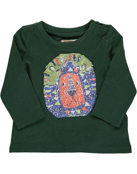 Baby boys' reversible sequin T-shirt DUVIOTEE1 / 18WG10H1TML060