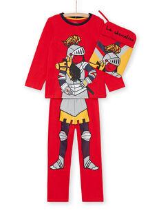 Completo pigiama t-shirt e leggings rosso bambino LEGOPYJMAN1 / 21SH12S1PYG502