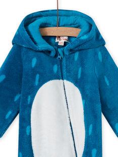 Tutina sacco nanna blu con cappuccio e motivo mostro neonato MEGASURPYJ / 21WH1491SPY715