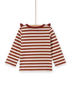 T-shirt a righe con motivo volpe bambino MUSAUTEE1 / 21WG10P1TMLI803