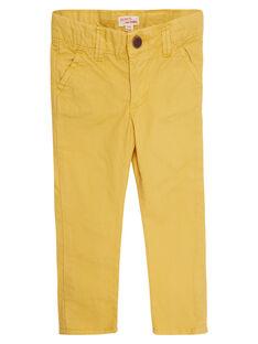 Pantaloni chino bambino gialli JOJOPACHI4 / 20S90243D2BB116