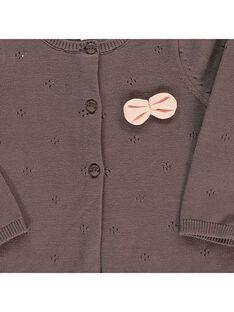 Girls' knitted cardigan CIJOGIL5 / 18SG09R6CAR816