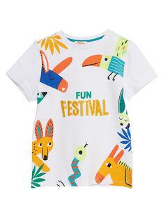 T-shirt bambino maniche corte bianca animali fantastici JOMARTI3 / 20S902P6TMC000