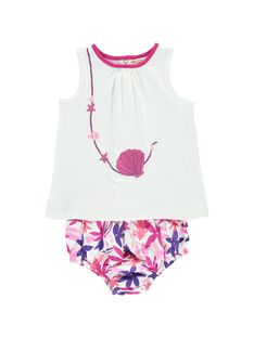 Baby girls' bloomer and vest set CIPLAENS2 / 18SG09Q2ENS000