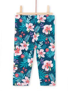 Leggings blu e rosa neonata LYIBONLEG / 21SI09W1CAL716