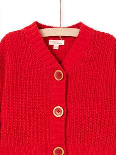 Cardigan rosso bambina MACOMCAR1 / 21W901L2CAR408