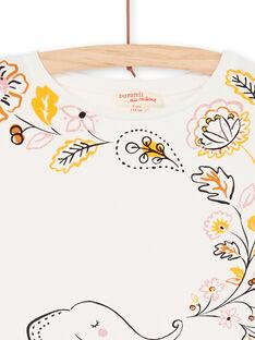 T-shirt maniche corte con volant, stampa elefante e foglie LAPOETI2 / 21S901Y2TMC001