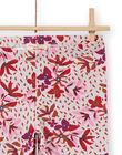 Leggings rosa con stampa a fiori bambina MYACOMLEG / 21WI01L1CALD329