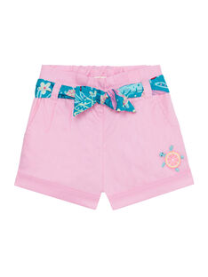 Shorts rosa neonata JIQUASHO2 / 20SG09R2SHO318