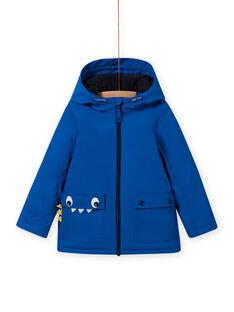 Impermeabile blu con motivo coccodrillo bambino MOGROIMP2 / 21W90252D59217