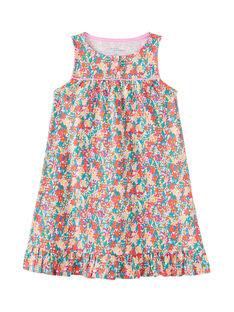 Camicia da notte con spalline larghe bambina e stampa multicolore JEFACHU2 / 20SH11U1CHN000