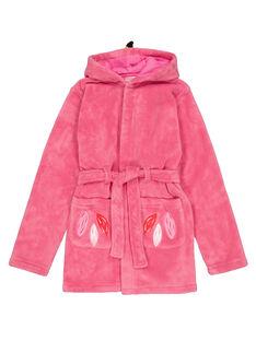 Vestaglia fenicottero rosa in soft boa bambina GEFAROBFLA / 19WH11N1RDCD308