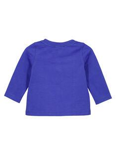 T-shirt collo alla tunisina in jersey iris neonato GUVIOTEE2 / 19WG10R2TML706