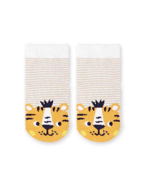Calze bianche e gialle a righe neonato LYUBALCHO / 21SI10O1SOQ000