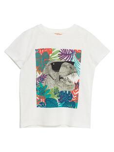 T-shirt bambino ecrù dinosauro JOSAUTI3 / 20S902Q2TMC001