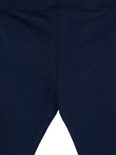 Leggings navy neonata con fiocchetti JYIESLEG1 / 20SI0962D26070