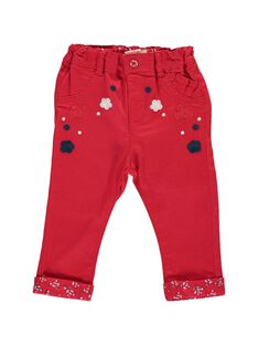 Baby girl's embroidered trousers CIDEPAN / 18SG09F1PANF518