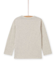 T-shirt beige melange motivo orsetto bambino MOSAUTEE5 / 21W902P5TMLA013