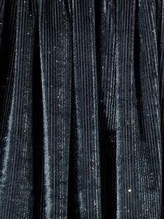 Gonna in velluto con glitter argentati, cintura in lurex argentato KABOJUP1 / 20W901N1JUPJ916