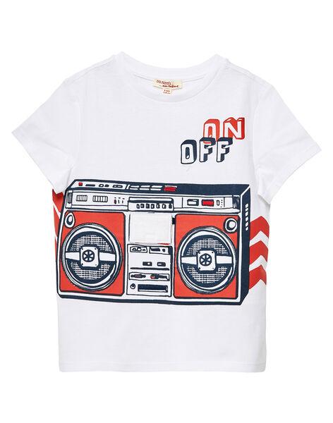 T-shirt bianca bambino con stampa radio JOGRATI2 / 20S902E1TMC000