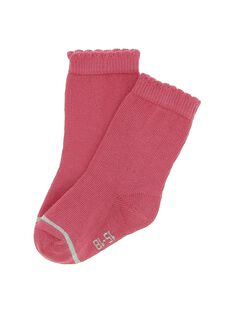 Baby girls' pink mid length socks DYIJOCHO11 / 18WI09J7SOQ302
