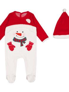 Tutina natalizia con berretto in velluto neonato GEGAGRENO / 19WH14T2GRE000
