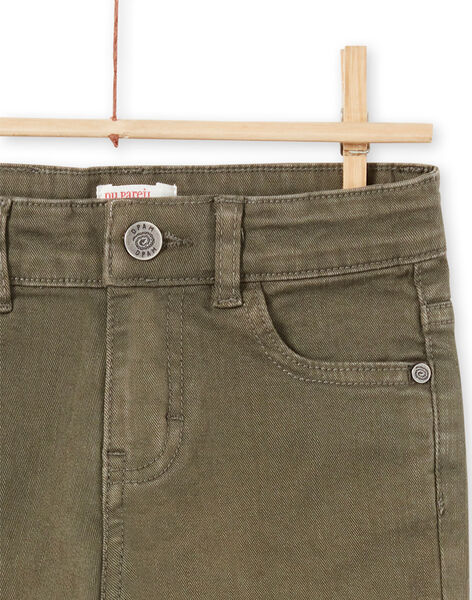 Pantaloni tinta unita kaki bambino MOKAPAN / 21W902I1PAN628