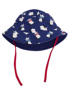 Cappello da pescatore neonato navy con motivo cane JYUGRACHA / 20SI10E1CHA702