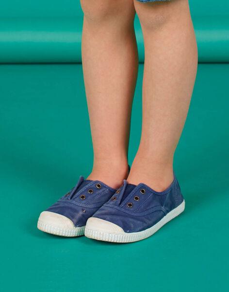 Scarpe da tennis tela tinta unita bambino FGTENBLUE / 19SK36B2D16070