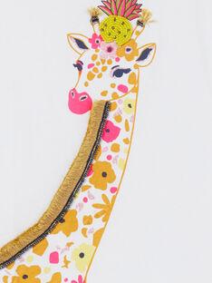 T-shirt bianca e arancione con motivo giraffa LAJAUTI4 / 21S901O4TMC000