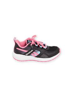 Sneakers Reebok nere con dettagli rosa bambino MAG57454 / 21XK3542D36090