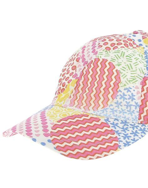 Girls' patchwork sun hat CYAMACAP / 18SI01U1CHA099