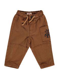 Baby boys' brown trousers DUBLEPAN2 / 18WG1092PAN817