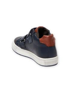 Sneakers alte navy e dettagli colorati bambino MOBASNEWMAR / 21XK3671D3F070