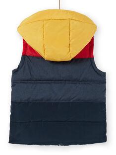 Piumino senza maniche con cappuccio navy e rosso bambino LOGRODOU2 / 21S902R5BLO705