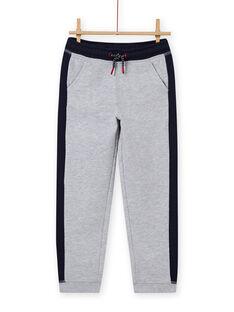 Pantaloni sportivi grigi e navy bambino MOJOJOB3 / 21W90211JGBJ922